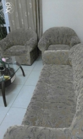 3 plus 2 sofa Gray Brown colour good condition