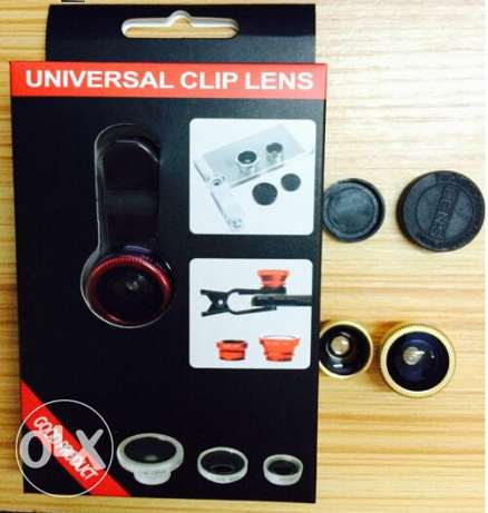 Universal clip lens for phones