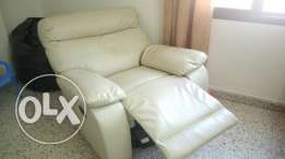 Rocking Chair, leather, 360* turning, full reclining