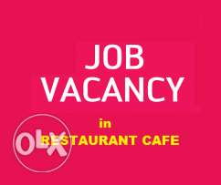 OPEN VACANCY for Supervisor or Operation Manager in RESTAURANT CAFE
