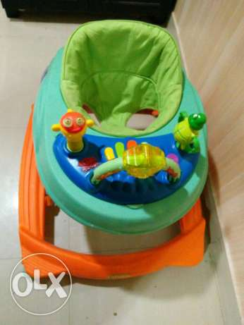 Baby walker, carrier and travel bed for sale