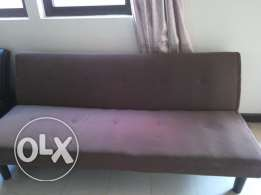 Brown sofa bed for 30 Omr