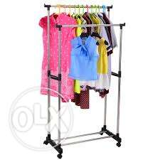 cloth stand- 2 layer steel rack for drying clothes or hanging