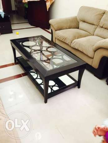 glass wood coffe Table