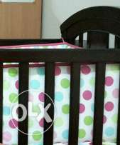 JUNIORS CRIB set & matress, high chair (not much used,good condition)