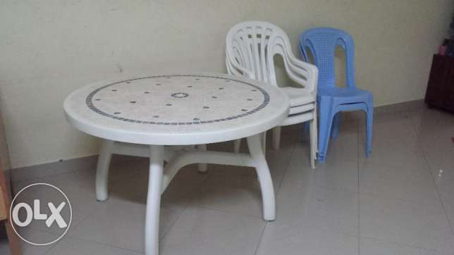 Furnitures--dining table, cupboard,2ton ac, fridge for sale