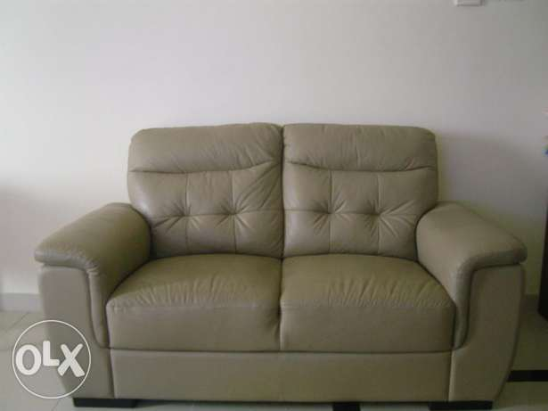 Leather sofa for 2+