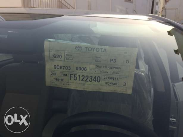 Toyota Carolla,1.6 , 2015 Sep, 13300 kms. For sale