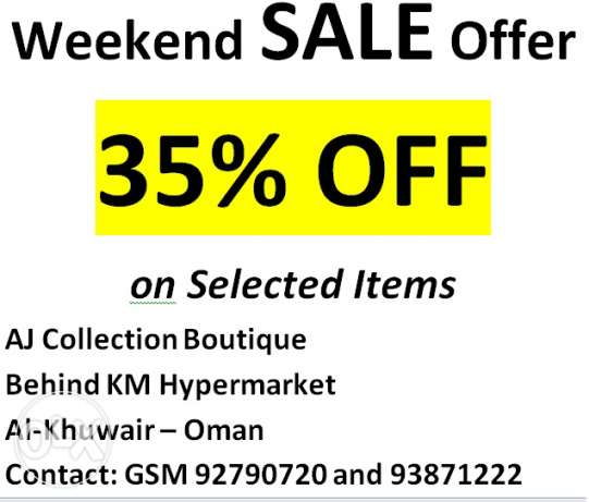 35% Sale offer on Selected items
