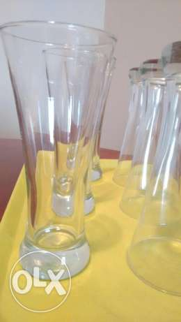 Tall smoothie glasses 6 number only 3 omr