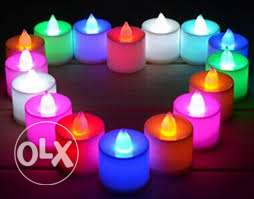 small tealight candles- 12 pieces-6.5CM LONG EACH