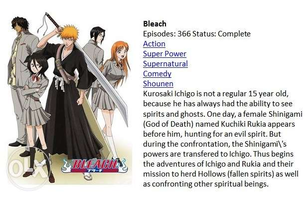 Bleach Anime Video Series Complete Episodes مسقط -  1