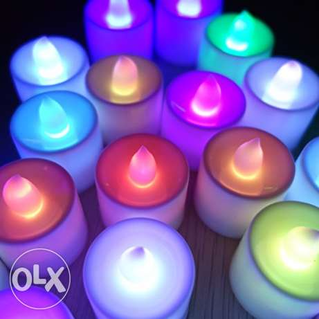 colour changing led candles- 12 pieces