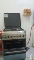 Cooking range with 4 burner and built-in oven