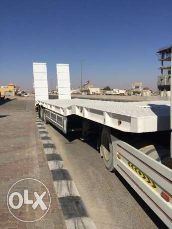 brand new low bed trailers in Saudi style with five years warranty