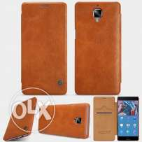 oneplus 3 Brown Leather Flip cover