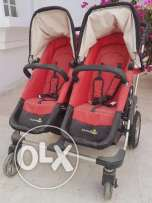 Twin infant stroller with carriers for Sale