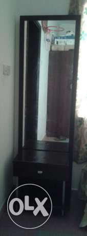 Long mirror dressing table and double side shoe rack for sale