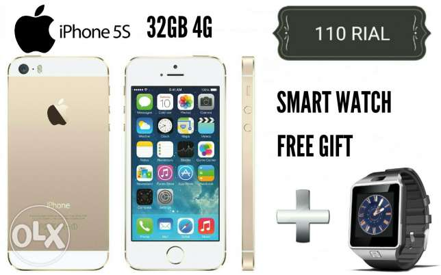 iphone 5s 32gb 4g new with warranty and gift in box