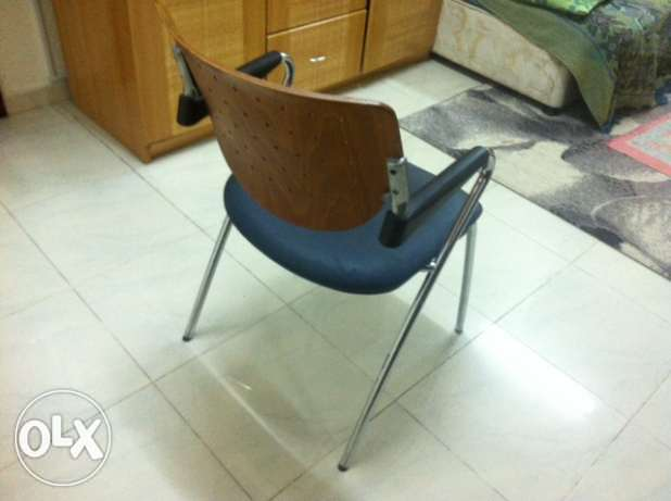 Solid Steel and Wood Chairs For Sale In Good Condition In Al Khuwair بوشر -  2