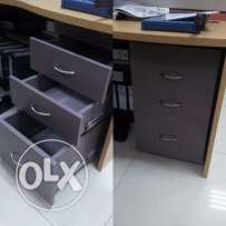 3 tier drawers with locks in each
