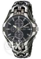 Seiko Men's SSC139 Excelsior Gunmetal and Silver-Tone Stainless Steel
