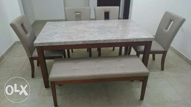 Marble Table & matching chairs