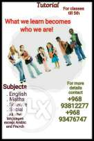 Tutorial for kids till classes 5th of all nationalities