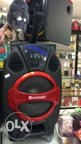 Karoke mic with speaker