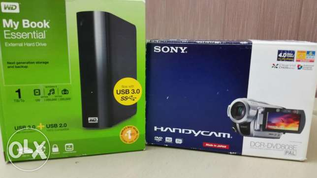 Camcorder with 1 TB WD hard drive