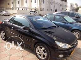 Peugeot model 206CC covertable for sale , year 2007