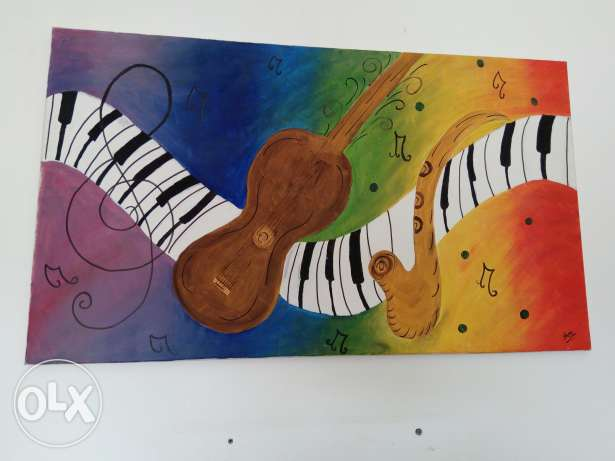 Colours of musicpainting