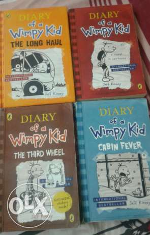 Dairy of a wimpy kid books on sale