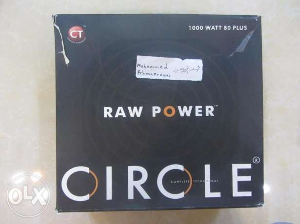مزود طاقة PSU RAW CIRCLE 1000 watt gold الرستاق -  1