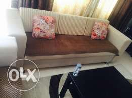 sofa set with center table n carpet