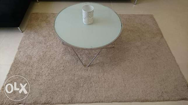 Glass Coffee Table + 3 Small Guest Glass Tables مسقط -  2