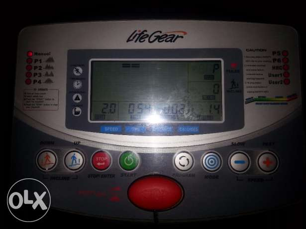 Tread Mill with Time, Speed,Distance,Calories,Pulse, Body Fat & slope روي -  4