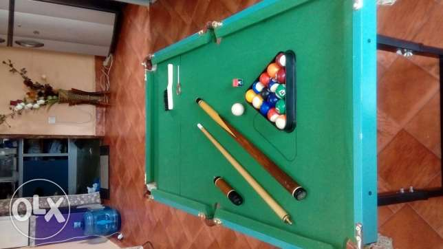 A bit used comfortable sized billiard only 1 in oman!