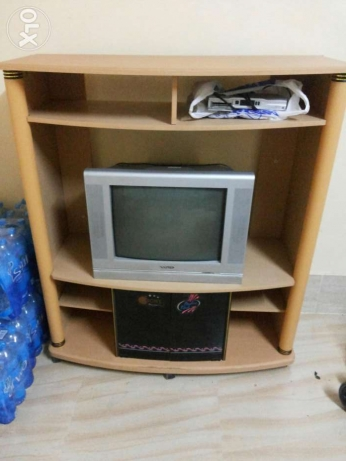 TV trolley with TV السيب -  2