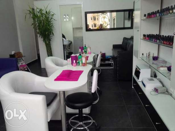 A highly furnished Beauty shop fully equipped with free parking