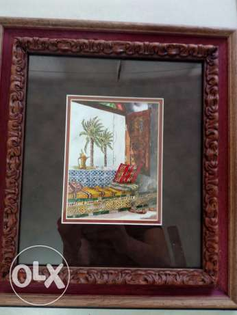 two framed paintings from art gallery