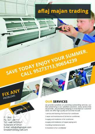 service and maintenance of all kind of air conditioner