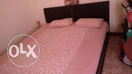 King size soild wood bed for sale with mattress