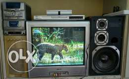 TV, music system, DVD player for sale