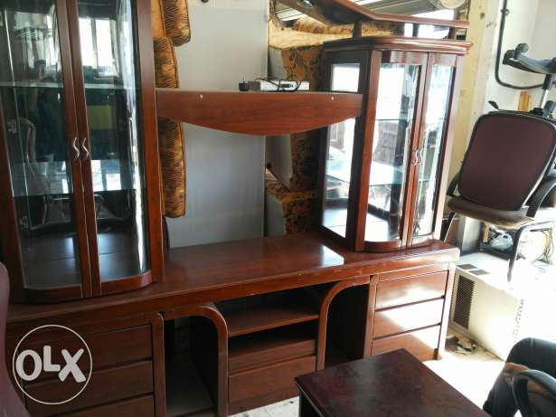 Used Showcase and tv table