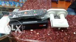New dish tv HD receiver+HD LNB+Dish atenna+Cable (1 month recharge)