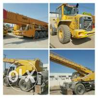 Trucks, crane, and water tanker for sale.