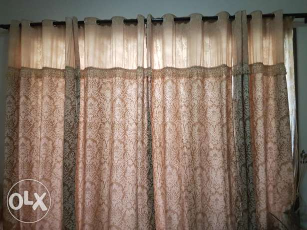 Curtains + blinds, height 250cm