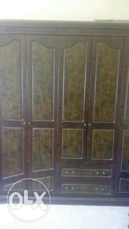 Wooden wardrobe with dressing table, and 4 side tables مسقط -  1