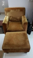 Single seater sofa with foot stool